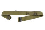 Waist Belt, Unissued, British P37, Post WWII, Khaki Canvas, Size Med/Large - -
