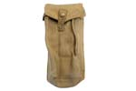 Magazine Pouch w/ Belt Loop, Khaki Canvas, WWII Dated, VG to Exc - -