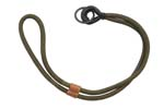 "Sword Lanyard, Chinese Army, 14"" Green Nylon, Leather Looped End - -"