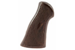 "Grips, 3 1/2"", Brown Checkered Plastic"
