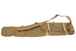 Rifle Carry Case w/ Adj Shoulder Strap & Tie Straps, Yellow/Olive Canvas, Orig