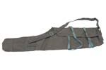 Rifle Carry Case w/ Adj Shoulder Strap & Tie Straps, Gray/Blue Canvas, Orig