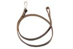 "Lanyard w/ Loop & Snap Hook, Dark Brown Leather, OAL 31-1/2"", Orig Russian Issue"
