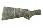 Stock, 12 Ga, Less Recoil Pad, Synthetic, Advantage Timber Camo, Checkered