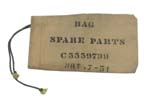 Spare Parts Bag, Khaki Canvas, Dated 1951, Used