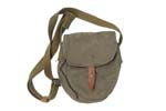 Drum Pouch, Canvas, Adj. Shoulder Strap, Belt Loops,Leather Strap/Button Closure