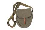 Drum Pouch, Canvas, Adj. Shoulder Strap, Belt Loops,Leather Strap/Button Closure