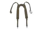 Suspenders, OD Canvas, French Military, Unissued - -
