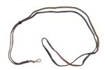 "Lanyard Strap, Black Leather w/Sliding Loop & Swivel Snap Hook, OAL 45"", Orig"
