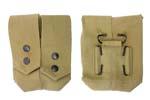 Dual Grenade Pouch, Khaki Canvas, Israeli Military, Unissued - -