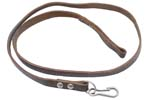 "Lanyard w/ Loop & Snap Hook, Dark Brown Leather,OAL 31-1/2"", Orig. Russian Issue"