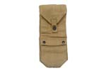 Utility Pouch, Khaki Canvas, Marked HTK 1951 w/ Danish Crown, Exc to Like New