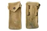 Magazine Pouch, 2-Cell, Canvas, Israeli Military Issue, Used,Holds 2- 25 Rd.Mags
