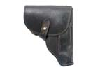 Holster, East German, Black Leather, Used Fair to Good