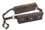 Ammo Pouch Harness, Swiss, 6-Pocket, Leather