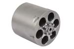Cylinder Assembly, .38 Super, 6 Shot, Non-Fluted, Glass Bead Finish, Stainless