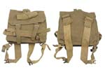 Small Pack w/ Carry Straps, British P37, Khaki Canvas, 1950's Dated, Good to VG