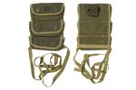 Grenade Belt Pouch, 3-Pocket, OD Canvas, WWII, Orig., Marked U.S. Tweedie 1944 -