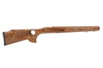 Stock, RH, S/A, Brown Laminate, Thumbhole, Wide Vent.Forend,Varmint Bbl Channel