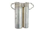 Double Oiler, Metal, Silver Finish, Original, Good to Very Good