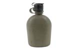 Canteen w/ Drinking Tube Style Cap, U.S. Army, 1 Quart Plastic, Good to VG - -