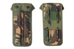 Magazine Pouch, Dual, Dutch Camo, Canvas, Each Pocket Holds 1-32 Rd 9mm Magazine