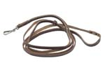 Lanyard Strap, Brown Leather w/ Sliding Loop & Swivel Snap Hook, OAL 45""