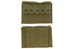 Magazine Pouch, 5 Pocket, OD Canvas, Post WWII, Unmarked, New
