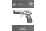 Instruction Manual, Beretta 92 Series (English, Italian, French & Spanish)