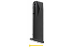 Magazine, 9mm, 18 Round, Flush-Fit, Matte Black (Mec-Gar)