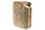 1249110 Danish Military Jerry Can, Used, Patterned After a U.S. WWII 5 Gallon Jerry Can
