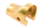 Musket Forend Cap, Gold Plated, Factory Original, VG to Exc