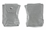 Cleaning Kit Pouch w/ Snap Button, Gray Rubberized, Unissued