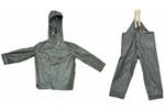 Finnish Rainsuit Set w/ Hooded Jacket & Suspender Pants (No Gloves) Size Large