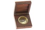 Brass Compass w/ Wooden Case