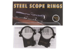 Scope Rings, Steel 1&quot;, Split, Medium, Matte Black, Factory Original, New