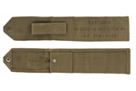 Cleaning Rod Pouch, WWII Era, Italian Issue, Khaki Canvas, VG to Exc - -