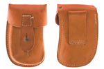 Magazine Pouch, Leather, Two Cell for 20 Round Magazines, Original, VG to Exc