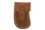 Magazine Pouch, Leather, Two Cell for 20 Round Magazines, Original, Good Cond