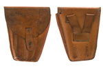 "Holster, Original w/Strap Flap Closure, 2 1/2"" Belt Loops, Tan Leather"