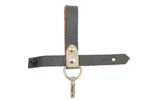 Bayonet Frog w/ D-Ring,Spring Clip &amp; Strap/Stud Closure, Gray Leather, Unissued
