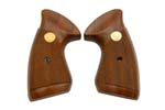 Grips, Original w/ Slightly Rounded Butt New Style Target, Dark Checkered Walnut