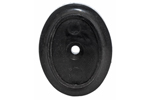Grip Cap, Decorative Black Plastic