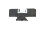 Rear Sight Blade, High Notch, Blued (w/ White Outline)