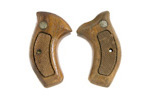 Grips, Round Butt, Target, Checkered Walnut -
