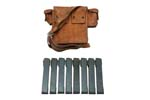 Magazine / Tool Pouch, Type A, Original, Leather w/ Side Pouch & 8 Magazines