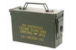 "Ammo Can, .30 Cal Olive Drab Steel Can w/Hinged Latch Lid. 3-3/4""x10-7/8""x6-7/8"""