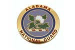 534670 Medallion, Alabama Nat'l Guard - Very Attractively Painted Brass (1-5/8