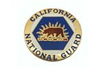 534690 Medallion, California Nat'l Guard- Very Attractively Painted Brass (1-5/8