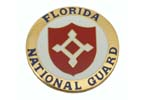 534700 Medallion, Florida National Guard- Very Attractively Painted Brass (1-5/8